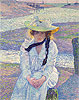 Young Woman at the Banks | Theo van Rysselberghe
