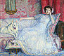 The Lady in White (Portrait of Madam Helen Keller) | Theo van Rysselberghe