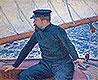 Paul Signac Aboard His Sailboat | Theo van Rysselberghe