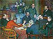 The Lecture by Emile Verhaeren (Reading in Saint-Cloud)   Theo van Rysselberghe