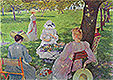 Family in an Orchard | Theo van Rysselberghe