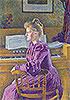Maria Sethe at the Harmonium | Theo van Rysselberghe