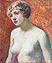 Bust of a Young Girl   Theo van Rysselberghe