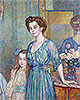 Mme Bodenhausen with a Child   Theo van Rysselberghe