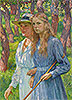 Portrait of Madame Schlumberger and Her Daughter | Theo van Rysselberghe
