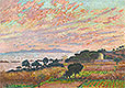 The Bay at Sunset (Saint Clair) | Theo van Rysselberghe