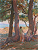 Two Bathers under the Pines by the Sea | Theo van Rysselberghe