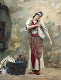 The Laundress, undated von Theodore Jacques Ralli | Gemälde-Reproduktion