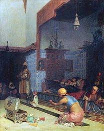 Marionettes in the Harem, 1881 von Theodore Jacques Ralli | Gemälde-Reproduktion