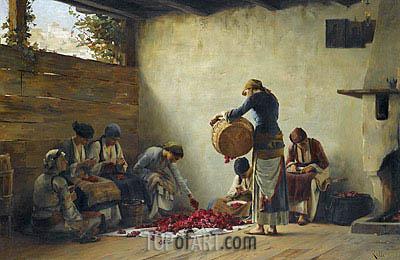 Theodore Jacques Ralli | Roses' Preserves In Megara, b.1892