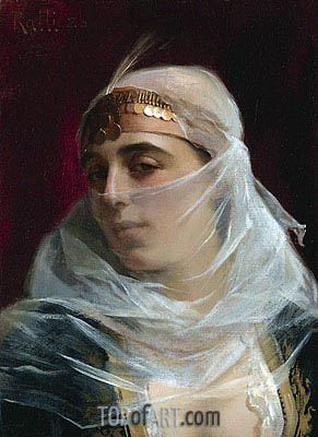 Turkish Woman, undated | Theodore Jacques Ralli | Gemälde Reproduktion