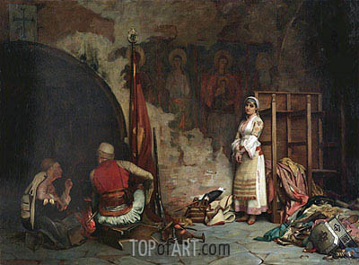 The Captive (Turkish Plunder), 1885 | Theodore Jacques Ralli | Painting Reproduction