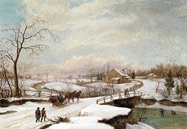 Philadelphia Winter Landscape, c.1830/45 von Thomas Birch | Gemälde-Reproduktion