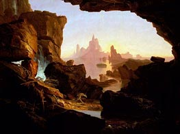 The Subsiding of the Waters of the Deluge | Thomas Cole | Gemälde Reproduktion