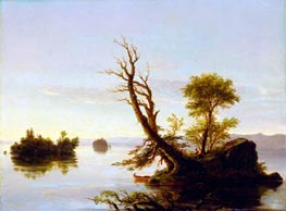 American Lake Scene, 1844 by Thomas Cole | Painting Reproduction