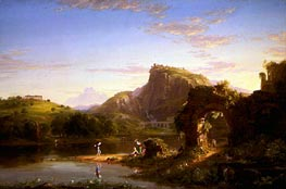 L'Allegro, 1845 by Thomas Cole | Painting Reproduction