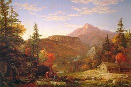The Hunter's Return | Thomas Cole | Painting Reproduction