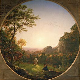 The Lonely Cross, 1845 by Thomas Cole | Painting Reproduction