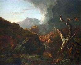 Landscape with Tree Trunks, undated by Thomas Cole | Painting Reproduction