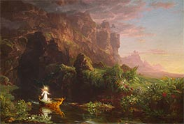 Voyage of Life - Childhood, 1842 by Thomas Cole | Painting Reproduction
