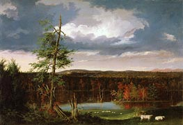 Landscape, the Seat of Mr. Featherstonhaugh in the Distance, 1826 by Thomas Cole | Painting Reproduction
