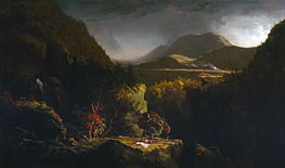 Landscape with Figures (The Last of the Mohicans), 1826 by Thomas Cole | Painting Reproduction