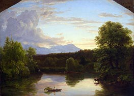 North Mountain and Catskill Creek, 1838 by Thomas Cole | Painting Reproduction