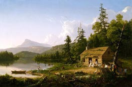 Home in the Woods, 1847 by Thomas Cole | Painting Reproduction