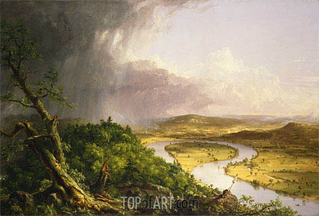 View from Mount Holyoke, Northampton, Massachusetts, after a Thunderstorm - The Oxbow, 1836 | Thomas Cole| Painting Reproduction