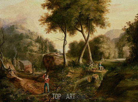 Landscape, 1825 | Thomas Cole | Painting Reproduction