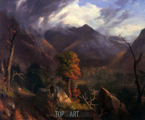 Peace at Sunset (Evening in the White Moutains), 1827 | Thomas Cole| Painting Reproduction