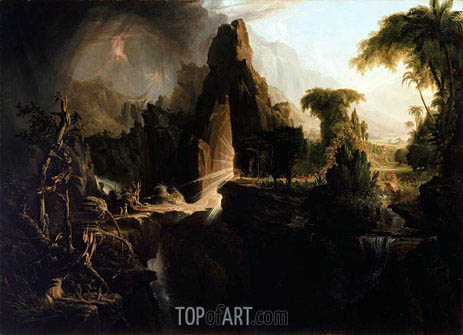 Expulsion from the Garden of Eden, 1828 | Thomas Cole| Gemälde Reproduktion