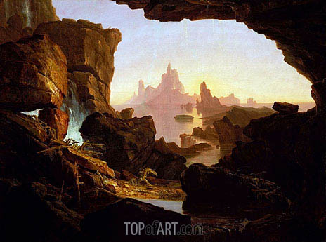 The Subsiding of the Waters of the Deluge, 1829 | Thomas Cole | Painting Reproduction