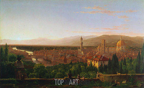 View of Florence, 1837 | Thomas Cole| Gemälde Reproduktion