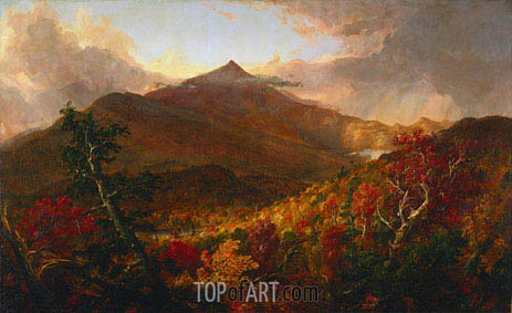 View of Schroon Mountain, Essex County, New York, After a Storm, 1838 | Thomas Cole | Painting Reproduction