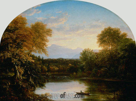 Sunset in the Catskills, 1841 | Thomas Cole | Painting Reproduction