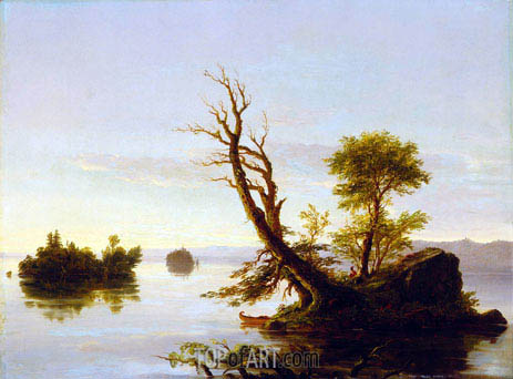 Thomas Cole | American Lake Scene, 1844