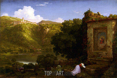 Il Penseroso, 1845 | Thomas Cole| Painting Reproduction