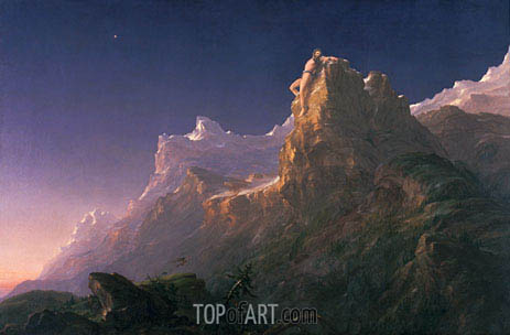 Prometheus Bound, c.1846/47 | Thomas Cole | Painting Reproduction