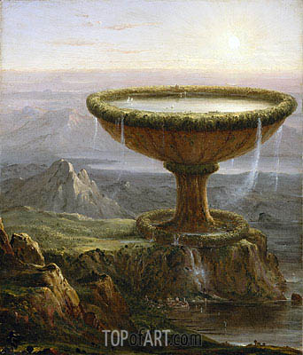 The Titan's Goblet, 1833 | Thomas Cole| Gemälde Reproduktion