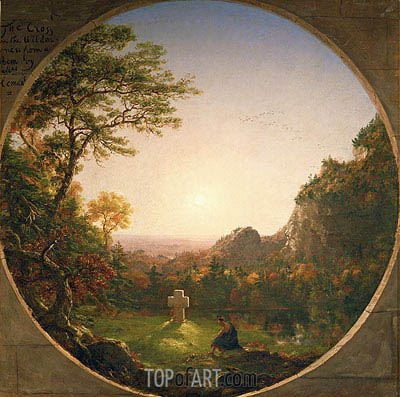 The Lonely Cross, 1845 | Thomas Cole| Gemälde Reproduktion