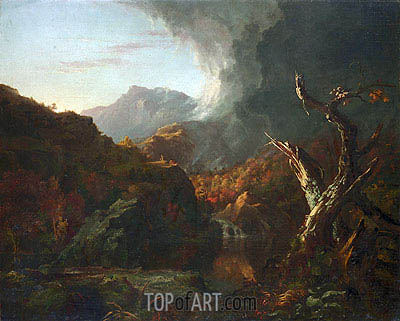 Landscape with Tree Trunks, undated | Thomas Cole | Painting Reproduction