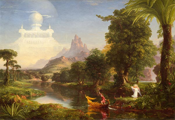 Voyage of Life - Youth, 1842 | Thomas Cole| Painting Reproduction