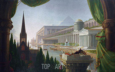 The Architect's Dream, 1840 | Thomas Cole| Painting Reproduction