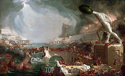 Course of Empire - Destruction, 1836 | Thomas Cole | Painting Reproduction