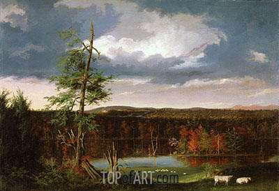 Landscape, the Seat of Mr. Featherstonhaugh in the Distance, 1826 | Thomas Cole | Painting Reproduction