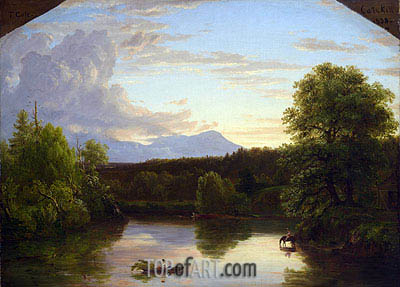 North Mountain and Catskill Creek, 1838 | Thomas Cole| Painting Reproduction