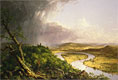 View from Mount Holyoke, Northampton, Massachusetts, after a Thunderstorm - The Oxbow | Thomas Cole