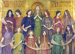 Alleluia, 1896 by Thomas Gotch | Painting Reproduction