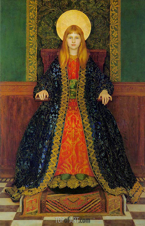 The Child Enthroned, c.1894 | Thomas Gotch | Gemälde Reproduktion